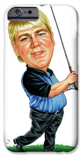 Professional Golf iPhone Cases - John Daly iPhone Case by Art