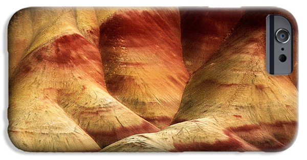 Otherworldly iPhone Cases - John Day Martian Landscape iPhone Case by Inge Johnsson