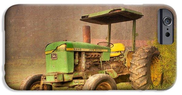 Tn Barn iPhone Cases - John Deere 2440 iPhone Case by Debra and Dave Vanderlaan