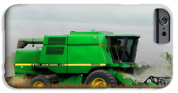 John Deere iPhone Cases - John Deere 9500 iPhone Case by Olivier Le Queinec