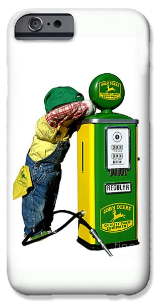 Mechanics Photographs iPhone Cases - John Deere Kid iPhone Case by Olivier Le Queinec