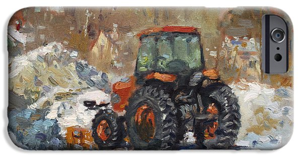House iPhone Cases - John Deere Taking a Brake iPhone Case by Ylli Haruni