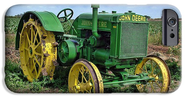 Best Sellers -  - Agricultural iPhone Cases - John Deere Tractor HDR iPhone Case by Ken Smith