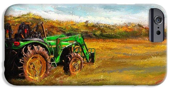 John Deere iPhone Cases - John Deere Tractor- John Deere Art iPhone Case by Lourry Legarde