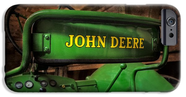 Enterprise Photographs iPhone Cases - John Deere Tractor iPhone Case by Susan Candelario