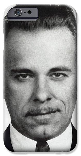 JOHN DILLINGER MUGSHOT iPhone Case by Daniel Hagerman