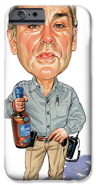 Art iPhone Cases - John Dunsworth as Jim Lahey iPhone Case by Art
