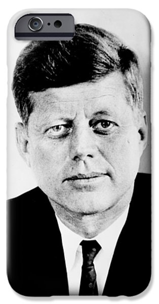 John F. Kennedy iPhone Case by Benjamin Yeager