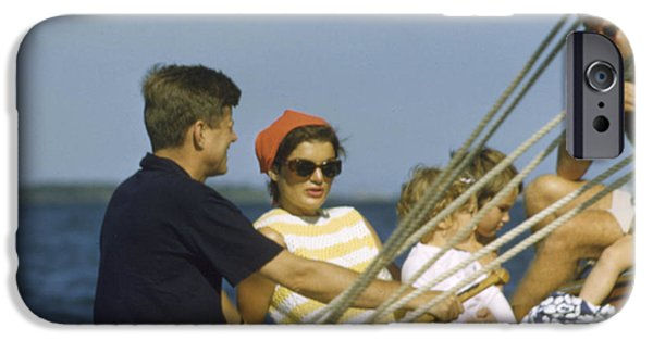 Cape Cod iPhone Cases - John F. Kennedy Boating iPhone Case by The Phillip Harrington Collection
