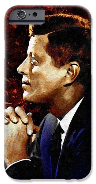 John F. Kennedy iPhone Case by Dancin Artworks