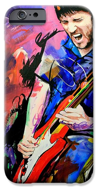Fender Strat Paintings iPhone Cases - John Frusciante iPhone Case by Richard Day