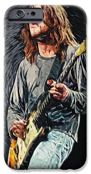 Jam Digital Art iPhone Cases - John Frusciante iPhone Case by Taylan Soyturk