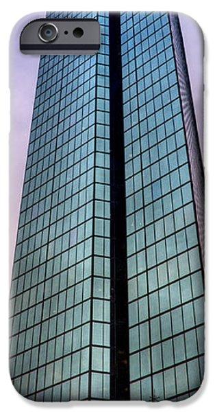 City. Boston iPhone Cases - John Hancock Tower - Boston Vertical Panoramic iPhone Case by Joann Vitali