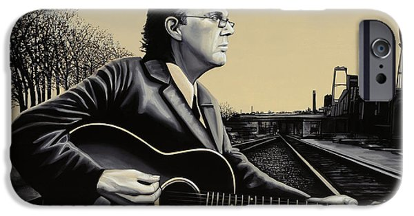 Little iPhone Cases - John Hiatt iPhone Case by Paul  Meijering