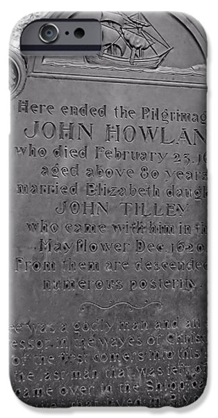 Recently Sold -  - Headstones iPhone Cases - John Howland iPhone Case by Janice Drew