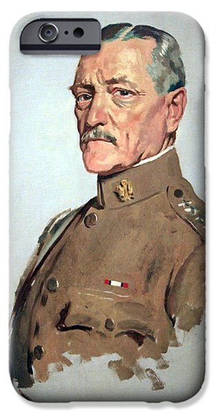 World War One iPhone Cases - John J. Pershing -- General Of The Armies iPhone Case by Cora Wandel