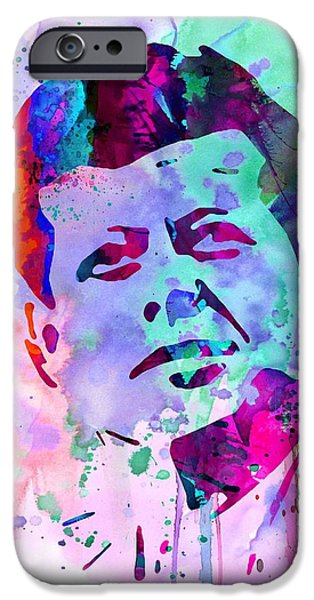 President iPhone Cases - John Kennedy Watercolor iPhone Case by Naxart Studio