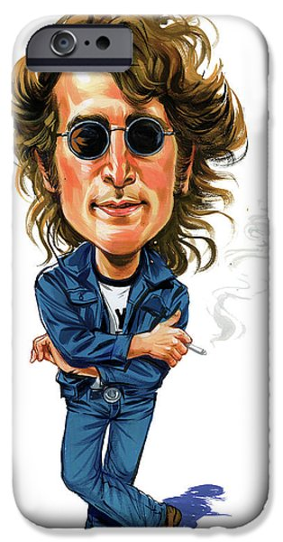 Art iPhone Cases - John Lennon iPhone Case by Art