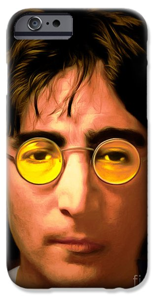 Beatles iPhone Cases - John Lennon Imagine 20150305 iPhone Case by Wingsdomain Art and Photography