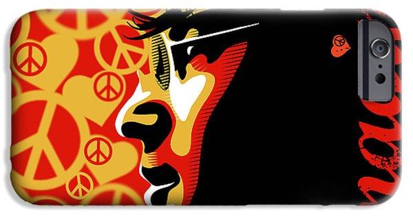 Writer iPhone Cases - John Lennon Imagine iPhone Case by Sassan Filsoof