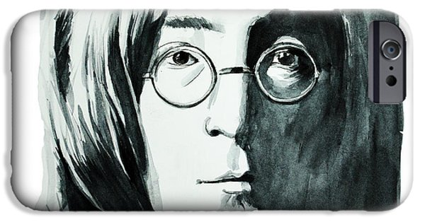 Mccartney Drawings iPhone Cases - John Lennon iPhone Case by MB Art factory