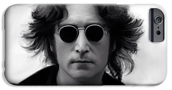 Chance iPhone Cases - John Lennon iPhone Case by Paul Tagliamonte