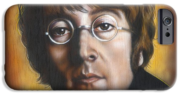 Beatles iPhone Cases - John Lennon iPhone Case by Tim  Scoggins
