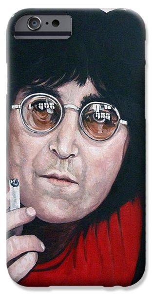 John Lennon iPhone Case by Tom Roderick