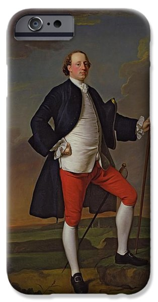 Full iPhone Cases - John Manners, Marquess Of Granby, 1745 iPhone Case by Allan Ramsay