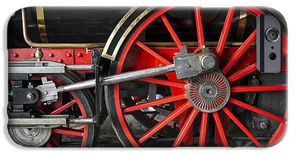 Technology iPhone Cases - John Molson Steam Train Locomotive iPhone Case by Edward Fielding