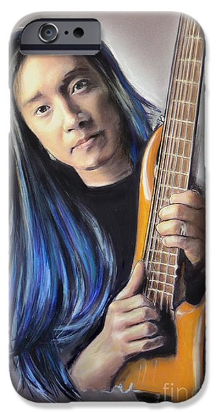 Player Mixed Media iPhone Cases - John Myung iPhone Case by Melanie D