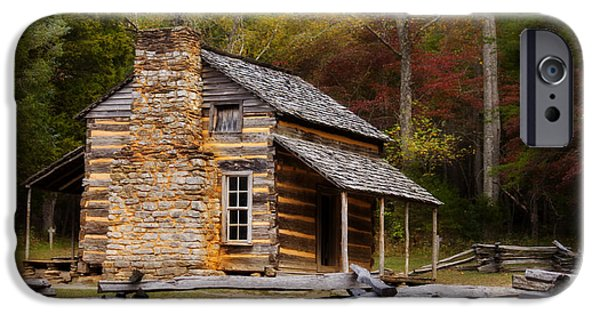 Best Sellers -  - Cabin Window iPhone Cases - John Oliver Cabin Cades Cove iPhone Case by Lena Auxier