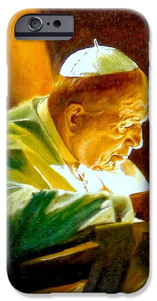 John Paul II iPhone Case by Henryk Gorecki