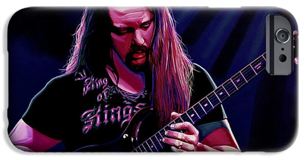 Chaos iPhone Cases - John Petrucci iPhone Case by Paul Meijering