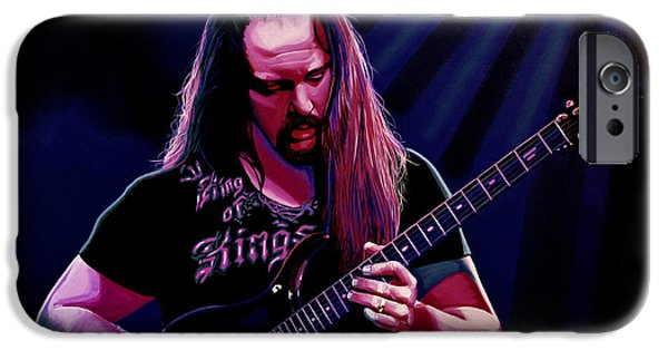 Liquid iPhone Cases - John Petrucci iPhone Case by Paul Meijering