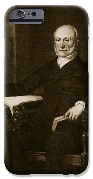 Recently Sold -  - Politician iPhone Cases - John Quincy Adams iPhone Case by George Healy