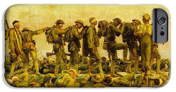World War One iPhone Cases - John Singer Sargent - Gassed iPhone Case by John Singer Sargent