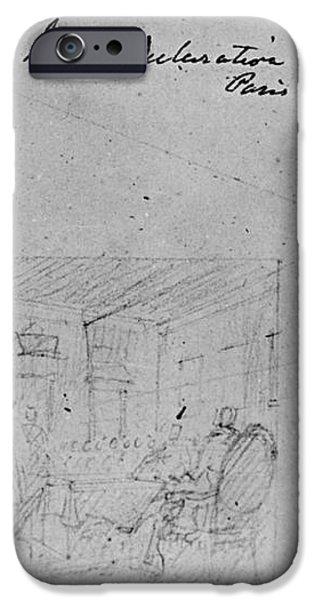 JOHN TRUMBULL SKETCH iPhone Case by Granger