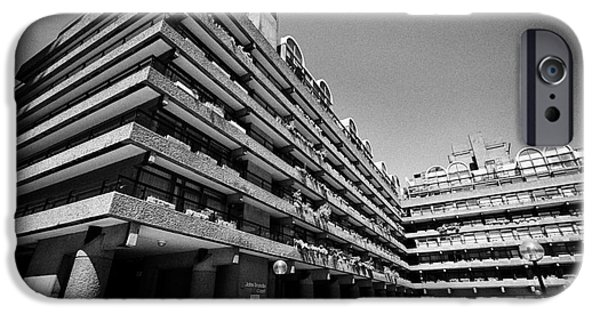 Brutalist iPhone Cases - John Trundle Court In The Barbican Residential Estate London England Uk iPhone Case by Joe Fox