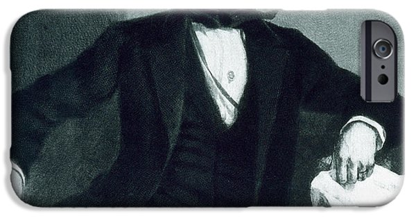 White House Paintings iPhone Cases - John Tyler iPhone Case by George Healy