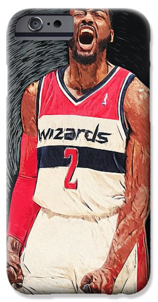 Paul Pierce iPhone Cases - John Wall  iPhone Case by Taylan Soyturk