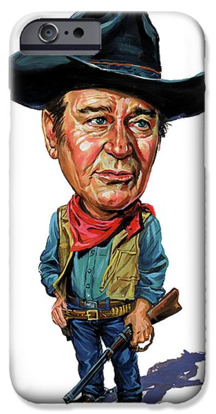 John Wayne iPhone Case by Art