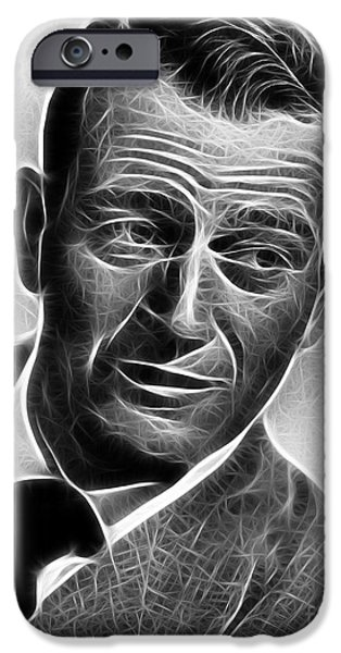 1950s Movies iPhone Cases - John Wayne iPhone Case by Michael Braham