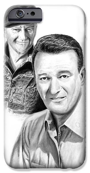 John Wayne iPhone Case by Peter Piatt