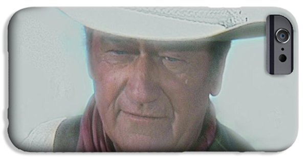 Randy iPhone Cases - John Wayne iPhone Case by Randy Follis