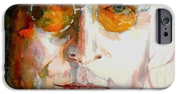 Beatles Paintings iPhone Cases - John Winston Lennon iPhone Case by Paul Lovering