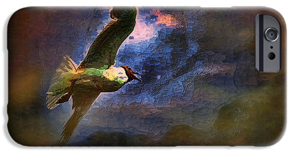 Flying Seagull Paintings iPhone Cases - Johnathon Livingston Seagull iPhone Case by Tyler Robbins