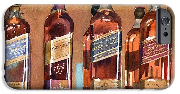 Bottled iPhone Cases - Johnnie Walker iPhone Case by Mary Helmreich