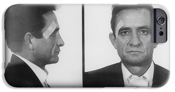 Poetic iPhone Cases - Johnny Cash Folsom Prison iPhone Case by David Millenheft