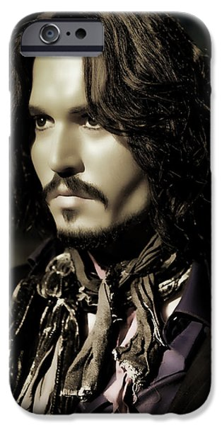 Alice In Wonderland iPhone Cases - Johnny Depp iPhone Case by Lee Dos Santos